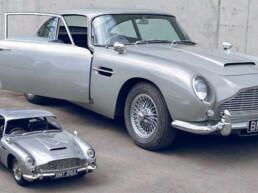 Vergleich 3D gedruckter Aston Martin und Original von voxeljet