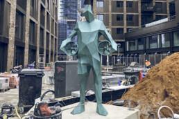 3D gedruckte Bronzestatue von voxeljet