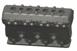 CAD-Daten des Motorblocks
