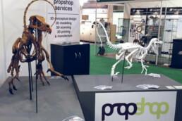 Ausstellung des 3D gedruckten Dinosauriers von voxeljet