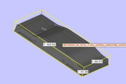 CAD-Daten einer Fahrwerksschwinge von voxeljet