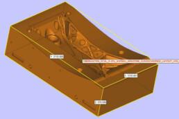 Oberkasten CAD-Daten einer Fahrwerksschwinge von voxeljet