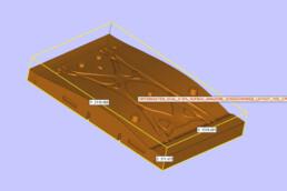 Unterkasten CAD-Daten einer Fahrwerksschwinge von voxeljet
