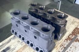 Vergleich des Originalmotors und des Gussteils