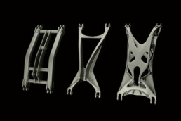 Optimierung einer Fahrwerksschwinge durch 3D-Druck von voxeljet