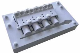 3D gedrucktes PMMA Modell des Motors als Testdruck von voxeljet