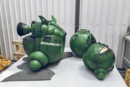 3D gedruckte und fertig bemalte Einzelteile von voxeljet