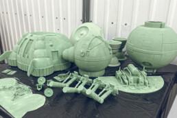 3D gedruckte Einzelteile von voxeljet