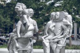 Fertige Guss-Skulpturen
