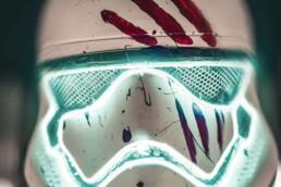 3D gedruckter Stormtrooper Helm von voxeljet