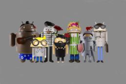 3D gedruckte Android Maskottchen