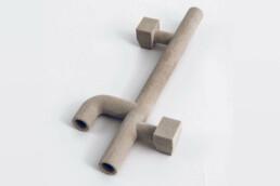 Mit Phenolharz 3D gedruckter, dünnwandiger Kern von voxeljet