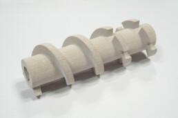 3d gedruckter Keramik Mixing Shaft von voxeljet
