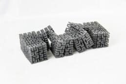 3d gedruckter polymer Würfel von voxeljet