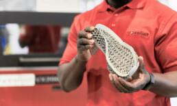 3D Polymer Sintering Schuhsohle von voxeljet