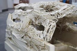 Kunststatue aus dem 3D-Drucker von voxeljet