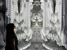 Kunstmodell aus dem 3D-Drucker von voxeljet