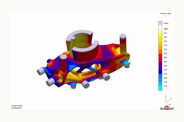 Simulation der 3D-Gussform