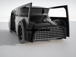 3D gedruckter Prototyp eines Autos von voxeljet