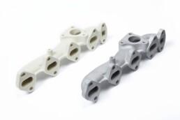 3D gedrucktes Feingussmodell eines Abgaskrümmers